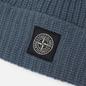Шапка Stone Island Wool Patch Program Mid Blue фото - 1