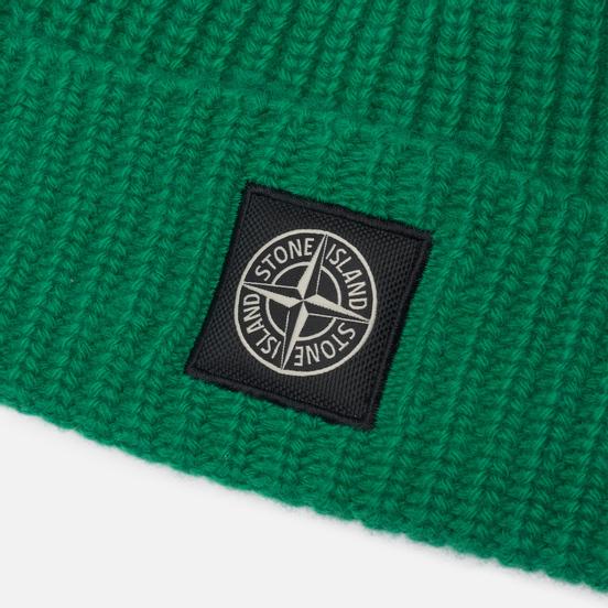 Шапка Stone Island Wool Patch Program Green