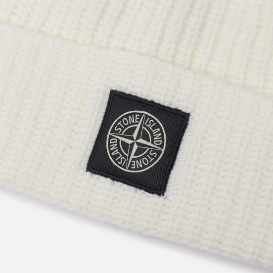 Шапка Stone Island Wool Patch Program Natural White
