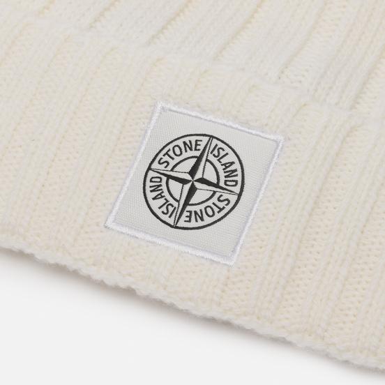 Шапка Stone Island Geelong Wool Natural White