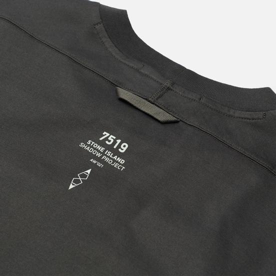 Мужская футболка Stone Island Shadow Project Mini Logo CXADO 7519 Antracite
