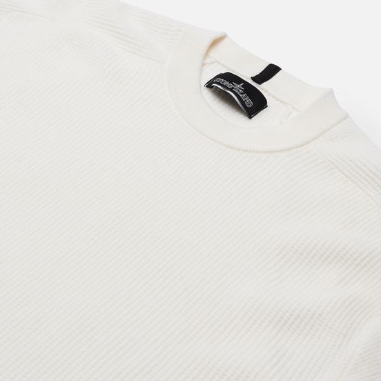 Мужской свитер Stone Island Shadow Project Classic Crew Neck Regular Fit White