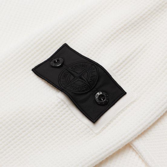 Мужской свитер Stone Island Shadow Project Classic Collar High Neck Regular Fit White