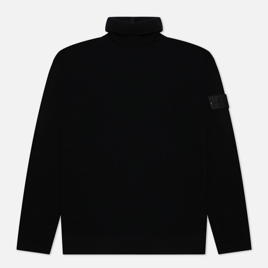 Мужской свитер Stone Island Shadow Project Classic Collar High Neck Regular Fit Black