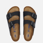 Мужские сандалии Birkenstock Arizona Nubuck Black фото - 1