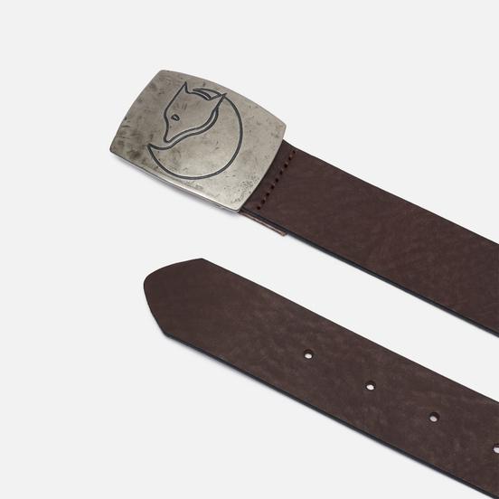 Ремень Fjallraven Murena Silver Leather Leather Brown