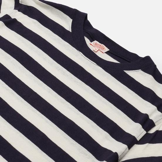 Мужская футболка Armor-Lux Heritage Linen Mix Stripe Navire Navy/Nature