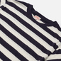 Мужская футболка Armor-Lux Heritage Linen Mix Stripe Navire Navy/Nature фото - 1