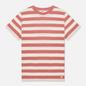 Мужская футболка Armor-Lux Heritage Linen Mix Stripe Rosewood Pink/Nature фото - 0