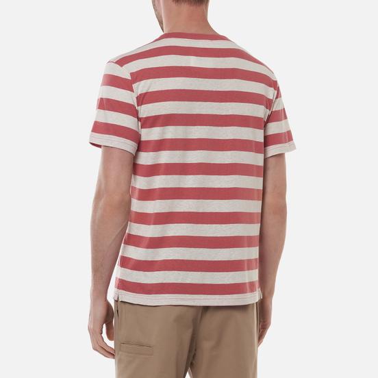 Мужская футболка Armor-Lux Heritage Linen Mix Stripe Rosewood Pink/Nature