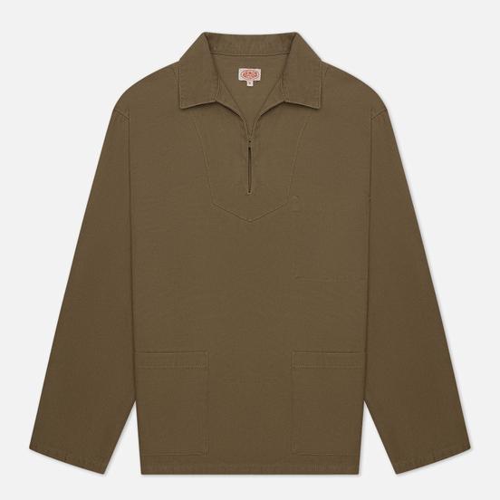Мужская рубашка Armor-Lux Heritage Fishermans Smock Overshirt Fern Khaki
