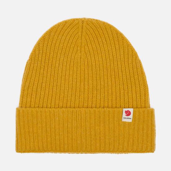 Шапка Fjallraven Logo Tab Mustard Yellow