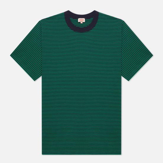 Мужская футболка Armor-Lux Heritage Striped Loose Fit Navire Navy/Billard Green