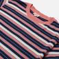 Мужская футболка Armor-Lux Heritage Striped Regular Fit Rosewood Pink/Navire Navy/Ozero Blue/Nature фото - 1