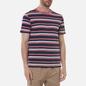 Мужская футболка Armor-Lux Heritage Striped Regular Fit Rosewood Pink/Navire Navy/Ozero Blue/Nature фото - 2