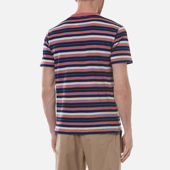 Мужская футболка Armor-Lux Heritage Striped Regular Fit Rosewood Pink/Navire Navy/Ozero Blue/Nature