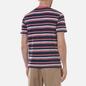 Мужская футболка Armor-Lux Heritage Striped Regular Fit Rosewood Pink/Navire Navy/Ozero Blue/Nature фото - 3