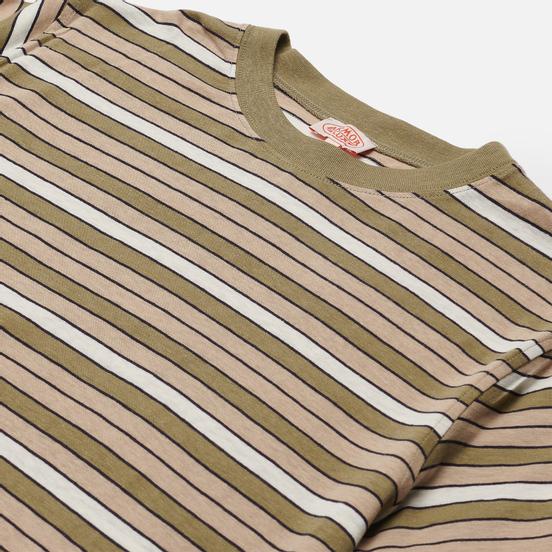 Мужская футболка Armor-Lux Heritage Striped Regular Fit Fern Khaki/Flax/Navire Navy/Nature