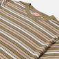 Мужская футболка Armor-Lux Heritage Striped Regular Fit Fern Khaki/Flax/Navire Navy/Nature фото - 1