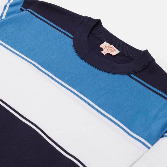 Мужская футболка Armor-Lux Heritage Large Striped Regular Fit Navire Navy/White/Ozero Blue