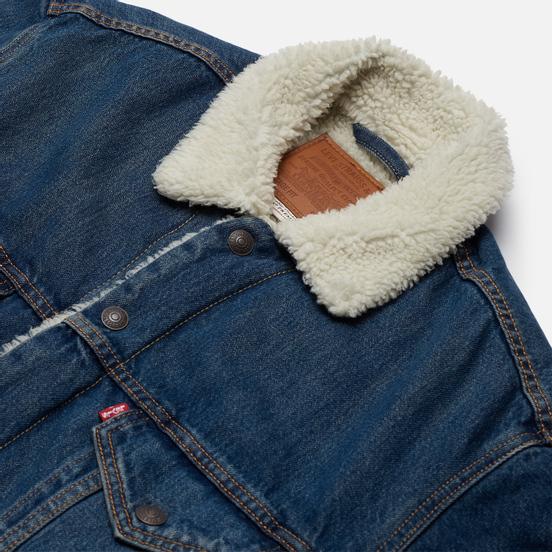 Мужская джинсовая куртка Levi's Vtg Fit Sherpa Dark Blue
