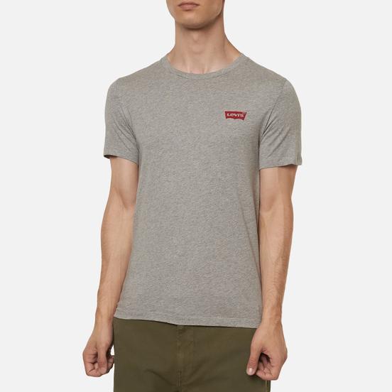 Комплект мужских футболок Levi's 2-Pack Crewneck Graphic White/Mid Tone Grey Heather