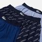 Комплект мужских трусов Lacoste Underwear 3-Pack Boxers Authentic Cotton Jacquard Navy Blue/Blue фото - 1