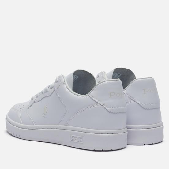 Женские кроссовки Polo Ralph Lauren Court Polo Pony Leather White/White