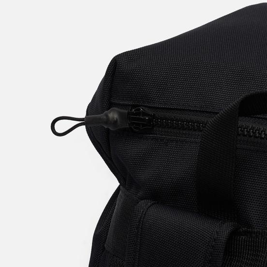 Рюкзак Champion Reverse Weave Script Logo Buckle Front Zip Pocket Black/Black