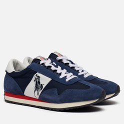 Мужские кроссовки Polo Ralph Lauren Train 90 Suede Newport Navy/White