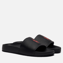 Мужские сланцы Polo Ralph Lauren Pony Player Pool Slide Black/Red Polo Pony