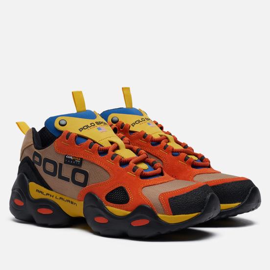 Мужские кроссовки Polo Ralph Lauren RLX Polo Sport Fast Trail Cordura/Suede Noisette/Cyber Yellow/Active Orange