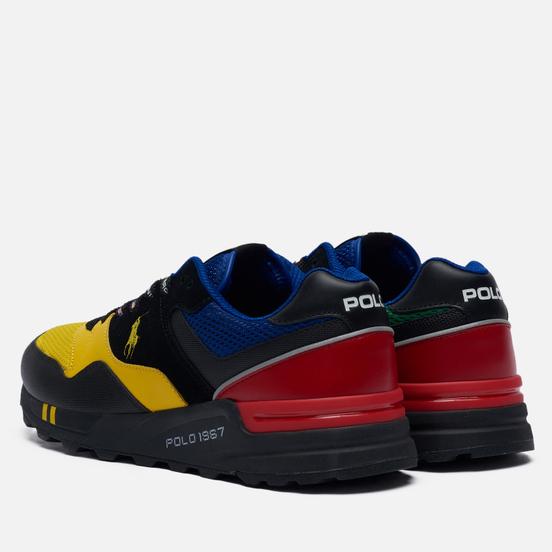 Мужские кроссовки Polo Ralph Lauren Polo Sport Racing Trackster 100 Mesh/Leather Cyber Yellow/Red/Black