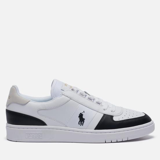 Мужские кроссовки Polo Ralph Lauren Court Polo Pony Leather White/Black