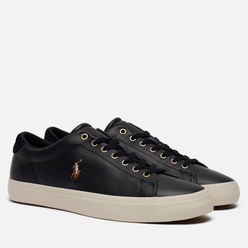 Мужские кроссовки Polo Ralph Lauren Longwood Perforated Nappa Smooth Leather Black