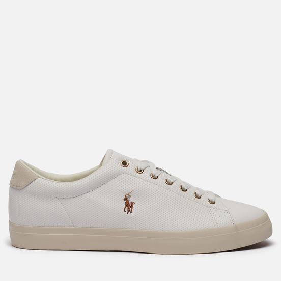 Мужские кроссовки Polo Ralph Lauren Longwood Perforated Nappa Smooth Leather White