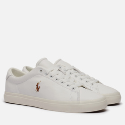 Мужские кроссовки Polo Ralph Lauren Longwood Nappa Smooth Leather White/White