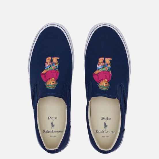 Мужские кеды Polo Ralph Lauren Thompson Slip-On Recycled Canvas Newport Navy/Bear Print