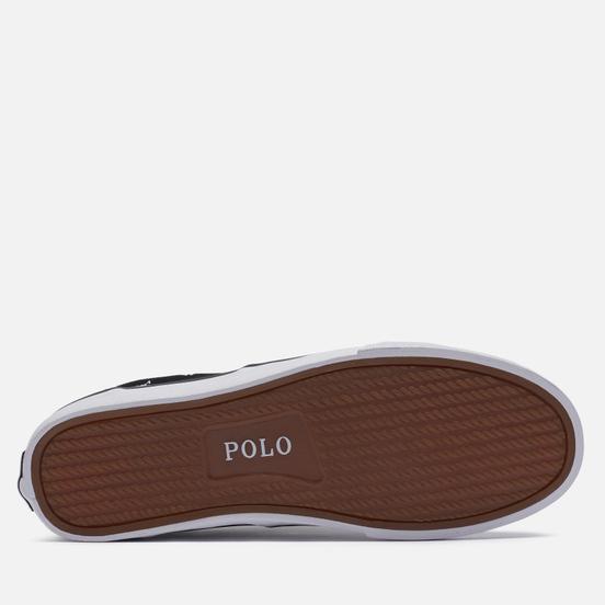 Мужские кеды Polo Ralph Lauren Thorton All Over Embroidered Polo Pony Black/White