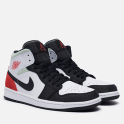 Мужские кроссовки Jordan Air Jordan 1 Mid SE Union Black Toe White/Track Red/Black/Igloo