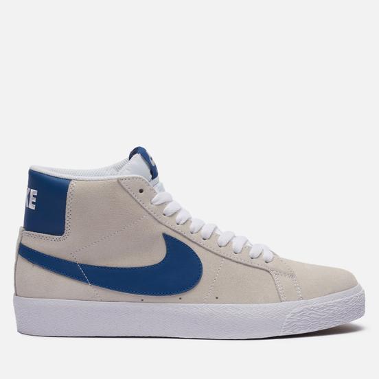 Мужские кроссовки Nike SB Zoom Blazer Mid White/Court Blue/White/White
