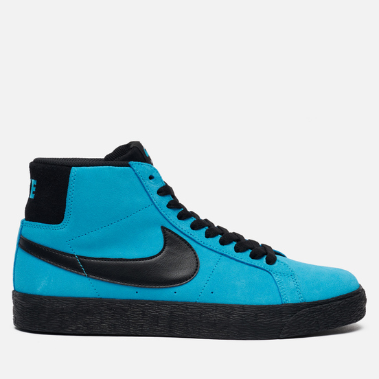 Мужские кроссовки Nike SB Zoom Blazer Mid Baltic Blue/Black/Baltic Blue/White
