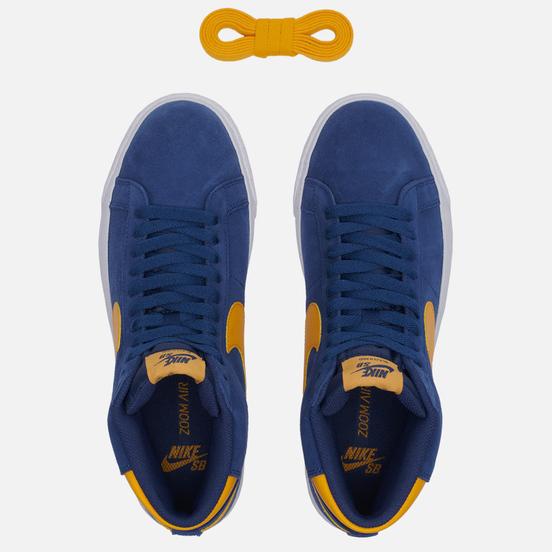Мужские кроссовки Nike SB Zoom Blazer Mid Michigan Navy/University Gold/Navy/White