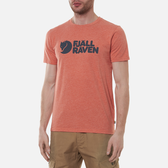 Мужская футболка Fjallraven Fjallraven Logo M Rowan Red/Melange