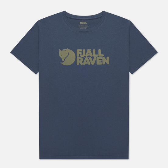 Мужская футболка Fjallraven Fjallraven Logo M Navy