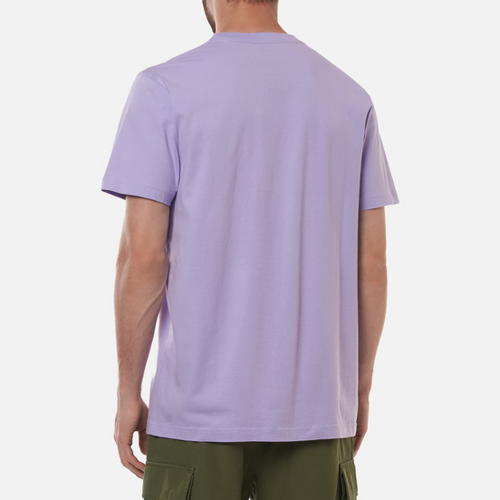 Мужская футболка maharishi Organic Military Type Embroidery Lavender
