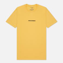 Мужская футболка maharishi Organic Military Type Embroidery Yellow