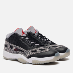 Мужские кроссовки Jordan Air Jordan 11 Retro Low IE Black Cement Black/Fire Red/Cement Grey/White
