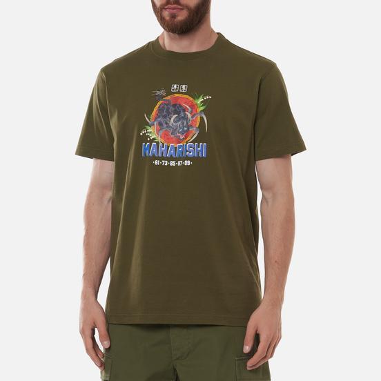 Мужская футболка maharishi Year Of The Spider Ox Olive