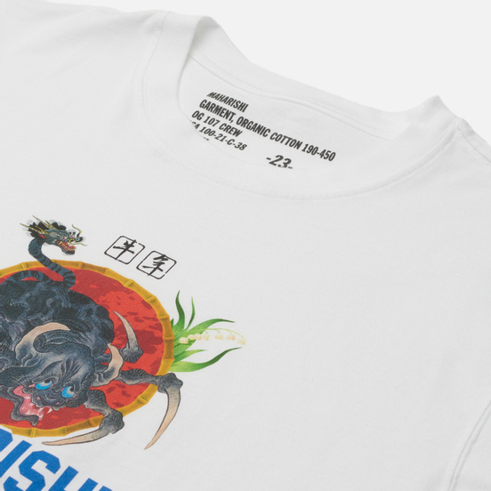Мужская футболка maharishi Year Of The Spider Ox White